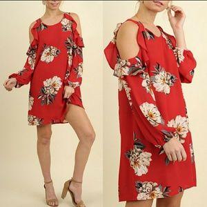 Dresses & Skirts - Amanda Open Shoulder Floral Dress